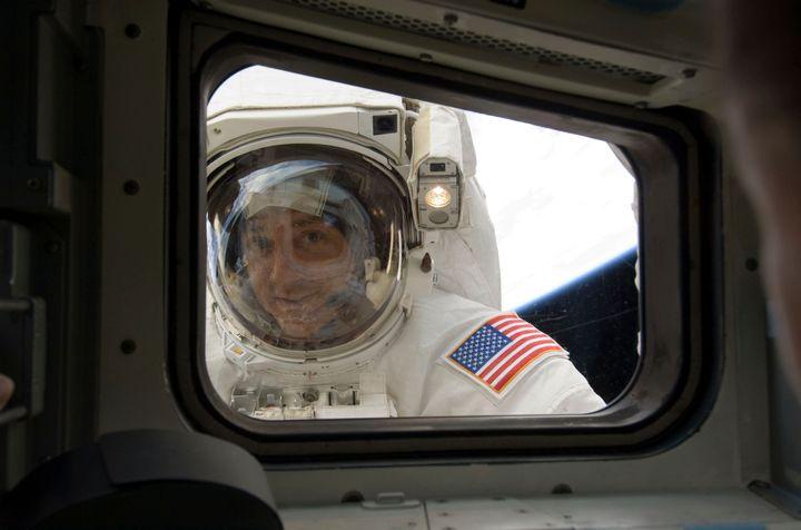 Nasa astronaut Mike Massimino on May 17, 2009. REUTERS/Nasa/Handout
