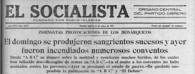 El periódico El Socialista el 12 de mayo de