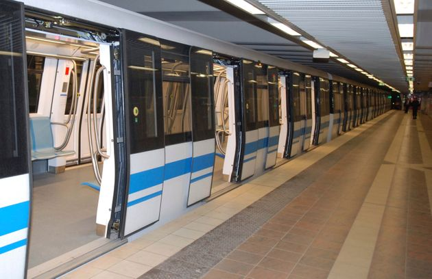 The new subway train is seen in Algiers, Monday Oct.31, 2011. Algeria's president has inaugurated the...
