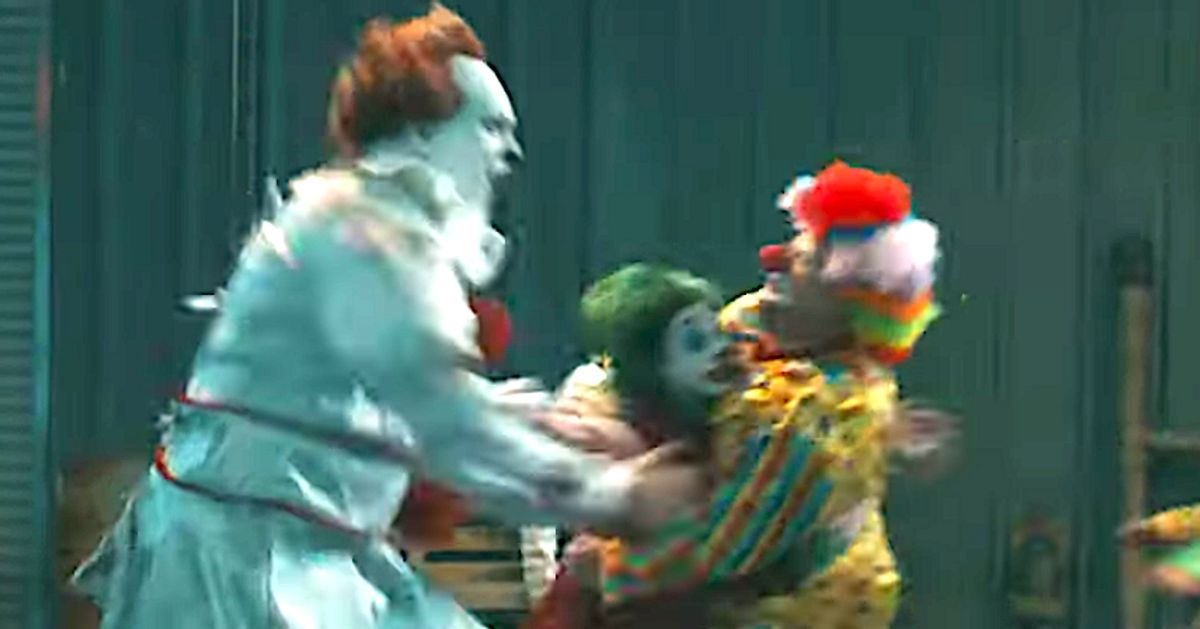 Regular Clowns Fight Joker And Pennywise In Brutally Funny Bozo Brawl With James Corden