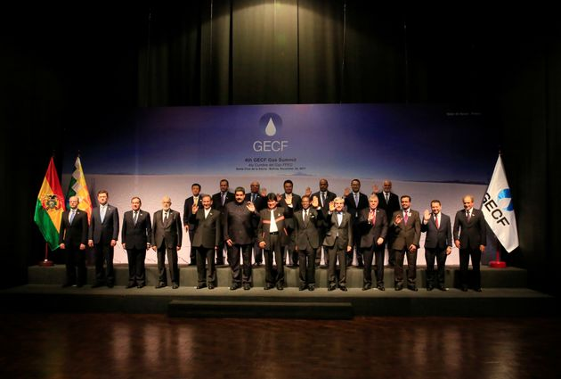 A family picture taken during the 4th Gas Exporting Countries Forum in Santa Cruz, Bolivia November 24,...