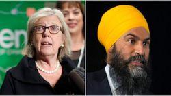Elizabeth May accuse Jagmeet Singh de répandre des faussetés sur le Parti