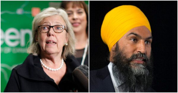Elizabeth May et Jagmeet