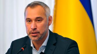 Ukraine's prosecutor-general Ruslan Ryaboshapka speaks to reporters during a press conference in Kiev on October 4, 2019. - Ukraine's prosecutor-general said on October 4, 2019, his office was reviewing the closure of a number of cases related to a gas firm linked to US Democrat Joe Biden's son. Prosecutor-General Ryaboshapka told reporters there were about 15 cases but stressed that they were not necessarily connected to Biden's son, Hunter Biden. (Photo by Sergei CHUZAVKOV / AFP) (Photo by SERGEI CHUZAVKOV/AFP via Getty Images)
