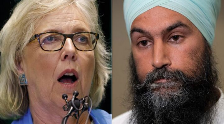 Green Party of Canada Leader Elizabeth May and NDP Leader Jagmeet Singh have not been seeing eye-to-eye during the 2019 federal election campaign.