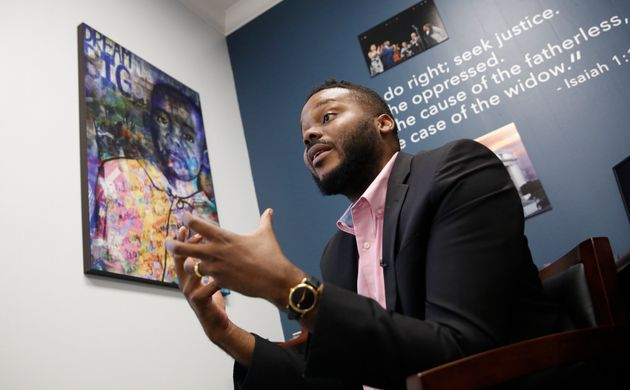 Stockton Mayor Michael Tubbs discusses the city's basic income program during an interview in Stockton,...