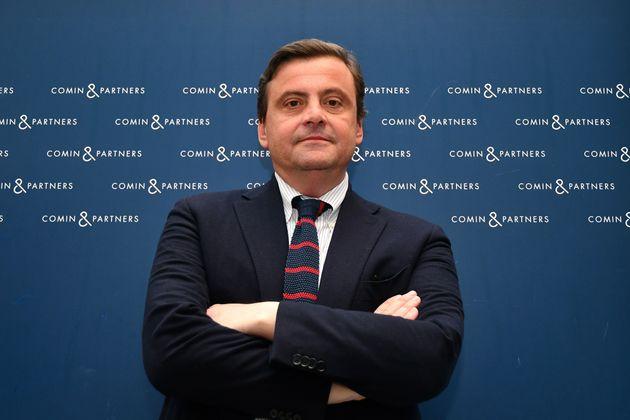 Italian Democratic Party (PD) politician and former Minister of Economic Development, Carlo Calenda poses...