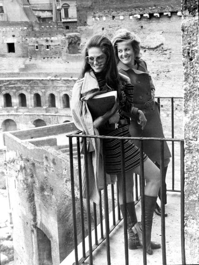 Marina Cicogna e Claudia Cardinale