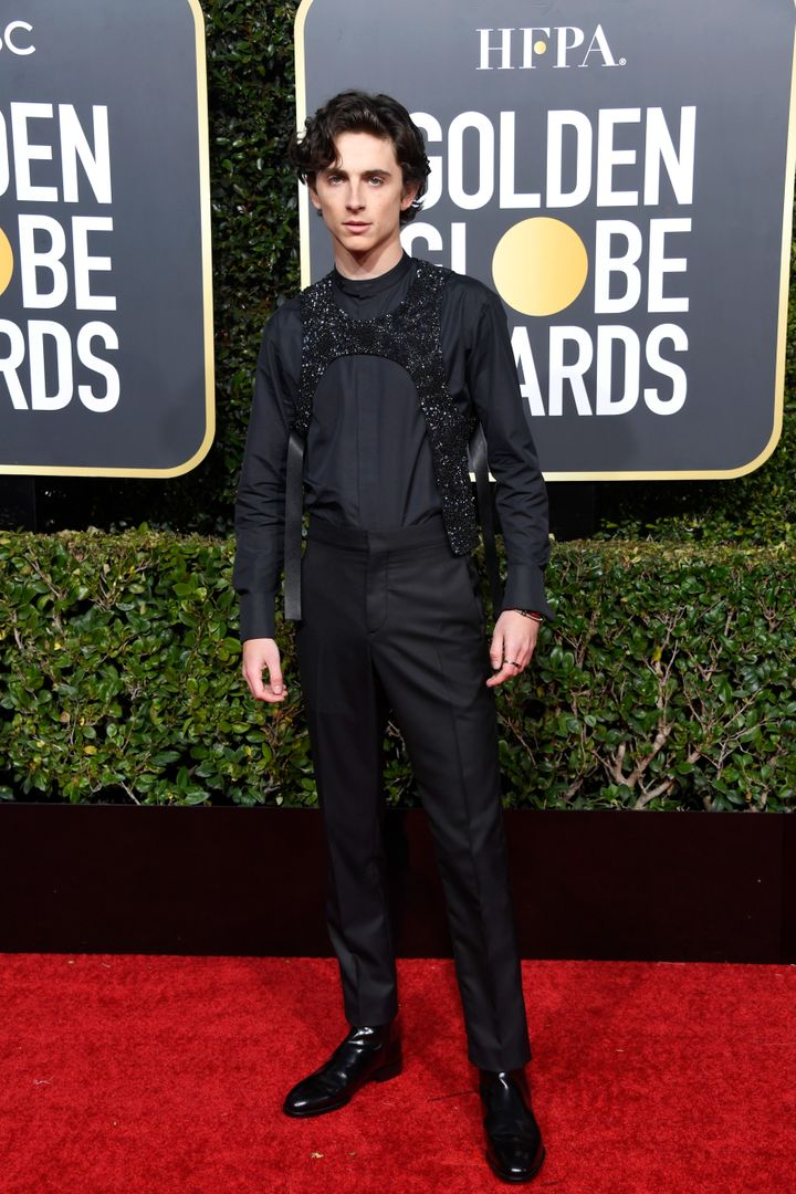 Timmy is no stranger to sparkle. Remember this look at the 2018 Golden Globes?