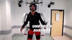 Un exosquelette connecté au cerveau permet à ce patient tétraplégique de