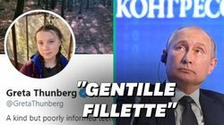 Après Trump, Greta Thunberg adopte une critique de Poutine qui l'a bien fait