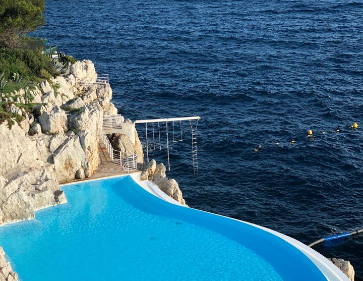 The Hotel du Cap-Eden-Roc in the south of France has a stunning cliffside pool.