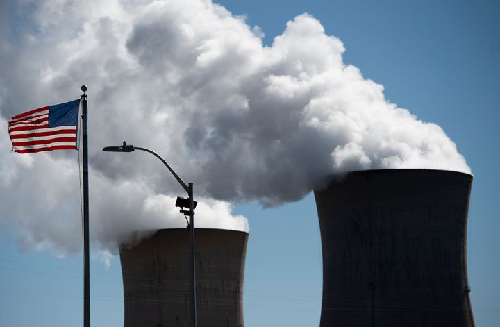 Steam rises from the nuclear plant on Three Mile Island. The Exelon-owned Pennsylvania plant, whose partial meltdown in