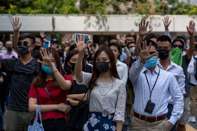 Una manifestación en Hong