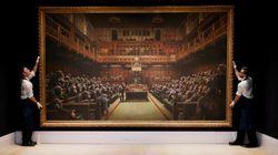 約13億円で落札されたバンクシー作品。この絵にもまた、見る者を驚嘆させるある仕掛けがあった【展示ルポ】