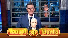 Jika Trump Turun Dia Membawa 'Plus Satu' Mike Pence, Memprediksi Stephen Colbert