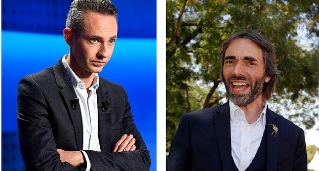 Ian Brossat, adjoint à la maire de Paris Anne Hidalgo, et Cédric Villani, candidat à...