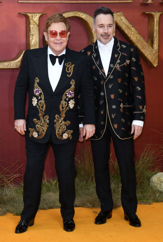 Elton with husband David