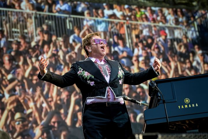 Elton is currently on his farewell tour