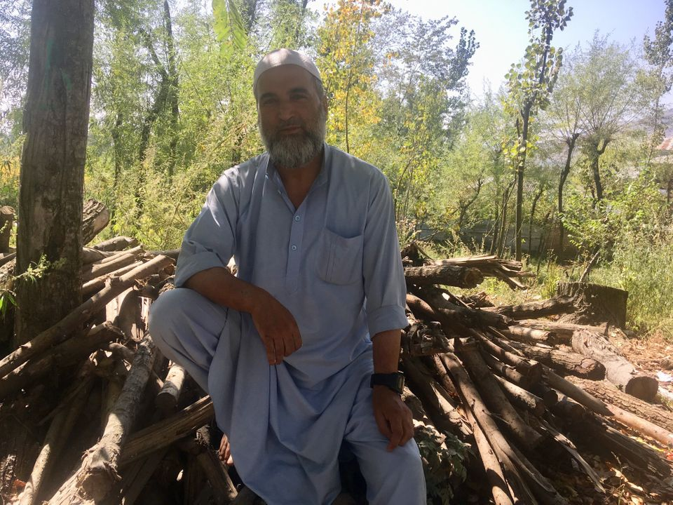 Muzaffar Ahmad Wani, Burhan Wani's father, near his home in Tral, South Kashmir on India on 19