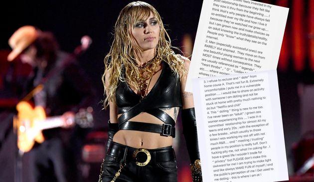 Miley Cyrus, ici à Las Vegas le 21 septembre, a dit sur les réseaux sociaux regretter les critiques sur...