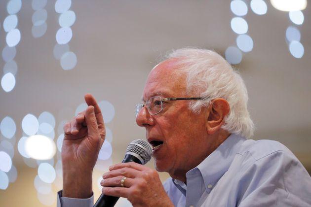 Democratic 2020 U.S. presidential candidate and U.S. Senator Bernie Sanders (I-VT) speaks at a campaign...