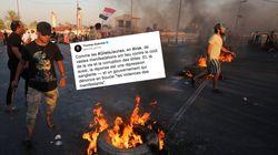 Cette comparaison entre les gilets jaunes et la répression sanglante qui endeuille l'Irak passe
