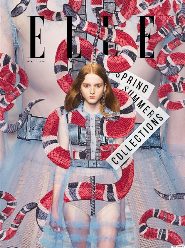 Canadian Artist Maxwell Burnstein Designs Elle Mexico's Spring Collections Issue
