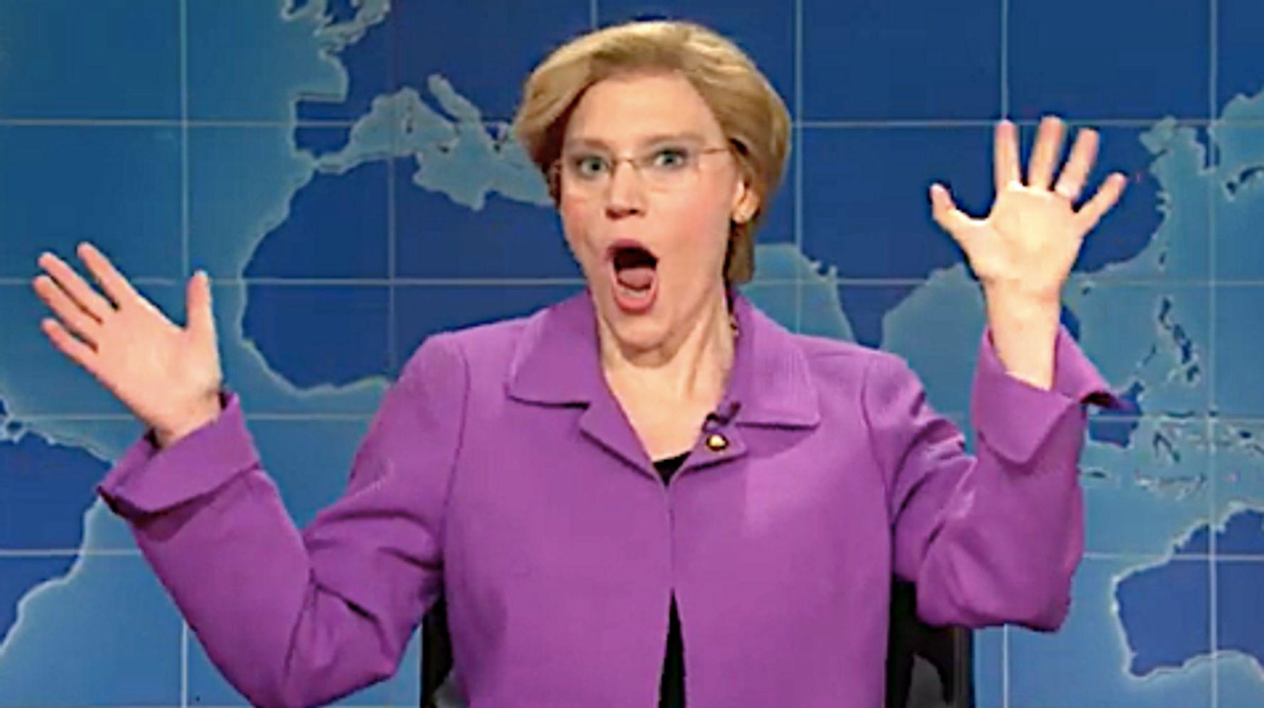 Westlake Legal Group 5d998999210000b103aa755f Kate McKinnon's Elizabeth Warren Fakes Horror That Billionaires Don't Like Her On 'SNL'