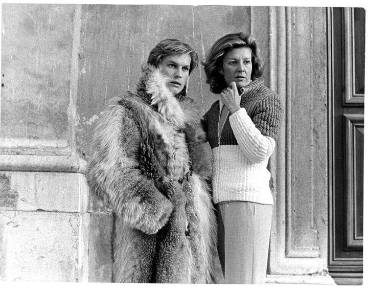 Marina Cicogna con Helmut Berger