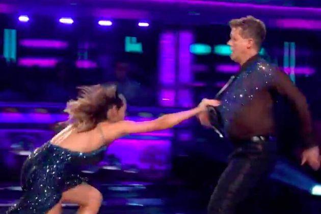 Katya Jones fell over on Strictly Come