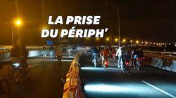 Le périph' parisien pris d'assaut par les cyclistes durant la Nuit