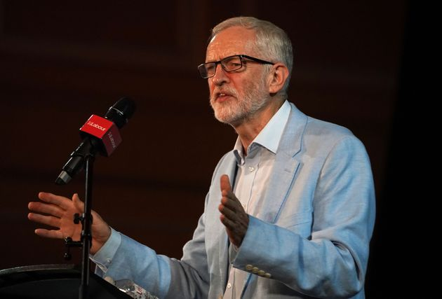 Labour leader Jeremy Corbyn speaking at a rally at Newcastle City Hall in Newcastle upon