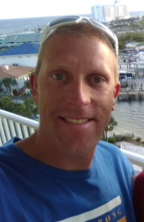 Chris Bergan, 37, had just flown to Florida from Norway to surprise his father-in-law for his 62nd birthday...