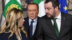 Vertice Berlusconi-Meloni-Salvini: