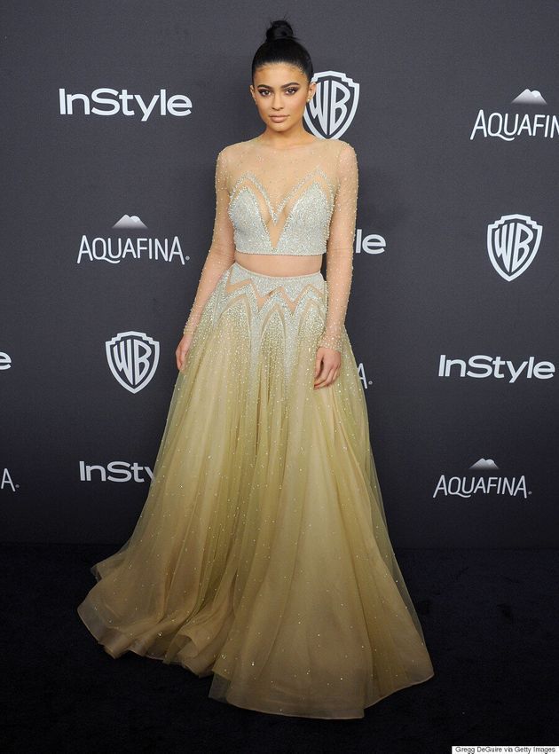 Kylie Jenner Attends The 2016 Golden Globes After-Party In Sparkling