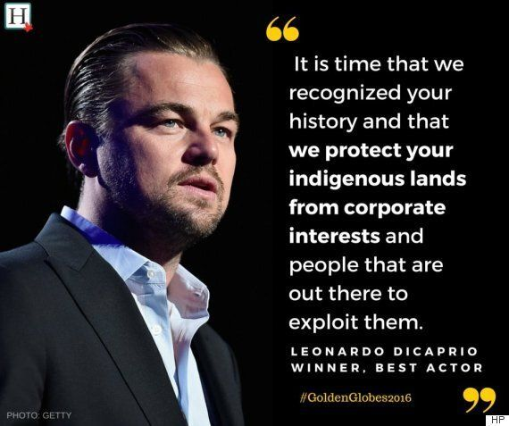 Leonardo DiCaprio Pays Tribute To Indigenous People In Golden Globe