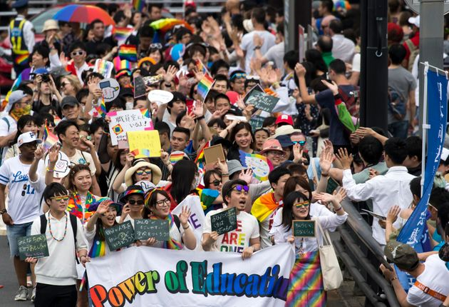 東京レインボープライドのパレードは、年々参加者が増えている
