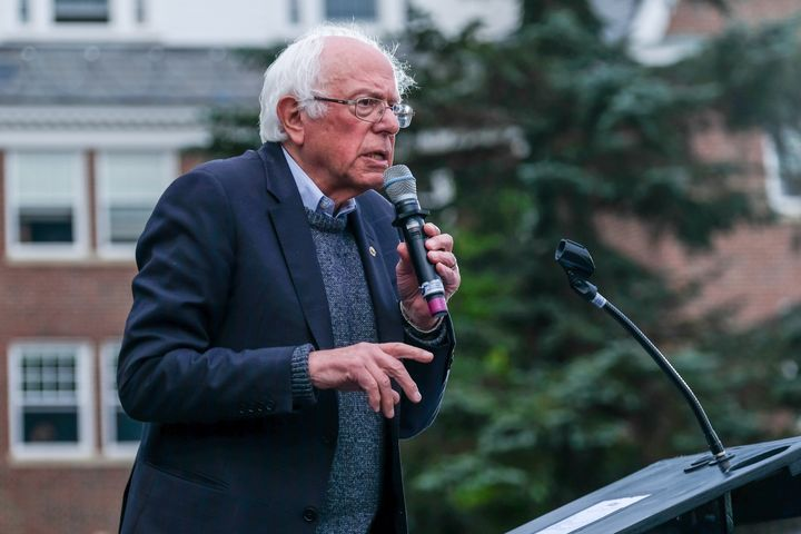 Sen. Bernie Sanders (I-Vt.), seen here campaigning in New Hampshire on Sept. 30, is taking aim at corporate influence in the