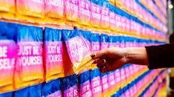 モード誌『SPUR』が渋谷で生理ナプキン7400枚を配布