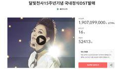 '달빛천사' OST 발매 크라우드펀딩 모금액이 19억원을