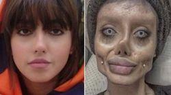 안젤리나 졸리처럼 성형한 이란의 여성이 신성모독으로