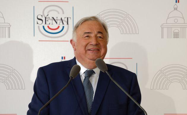 Gérard Larcher ici lors d'une conférence de presse au Sénat le 4 septembre