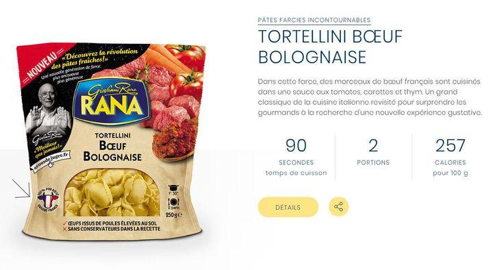 Les raviolis au bœuf Giovanni Rana contiennent également du buffle et du porc