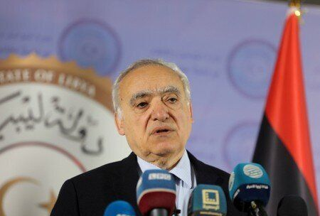 FILE PHOTO: The U.N. Envoy for Libya, Ghassan Salame, speaks during a news conference in