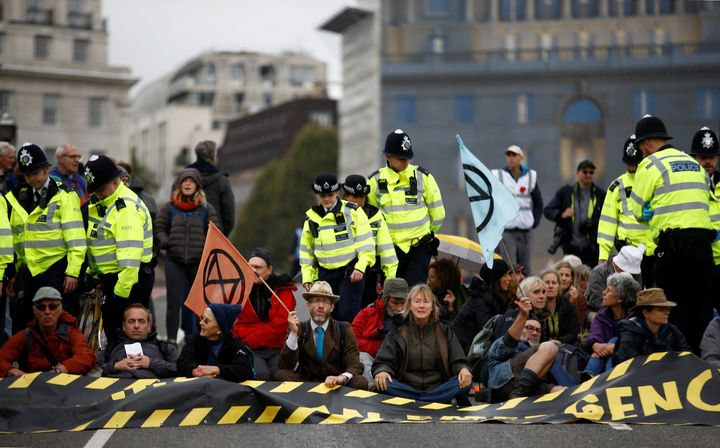 Extinction Rebellion protesters have taken to the streets of London