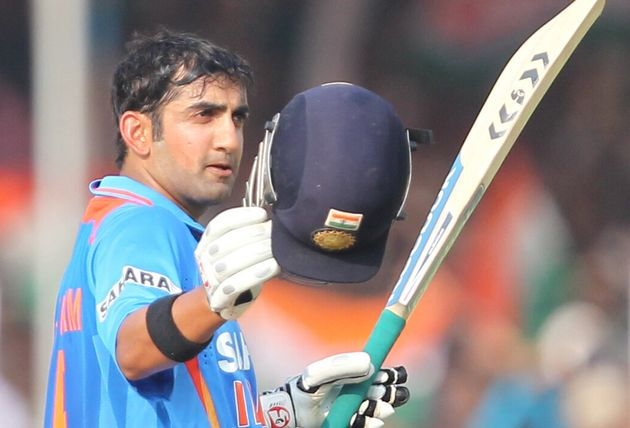 Gautam Gambhir during a One Day International (ODI) in