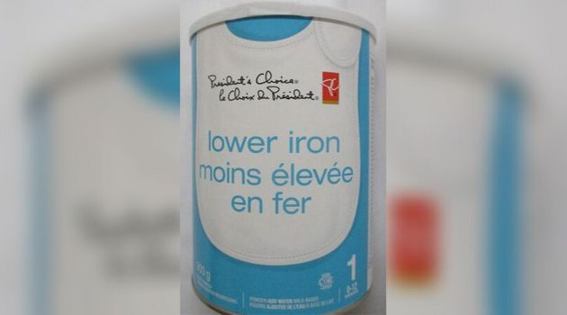 President's Choice brand Lower Iron milk-based powdered infant formula has been recalled due to a possible