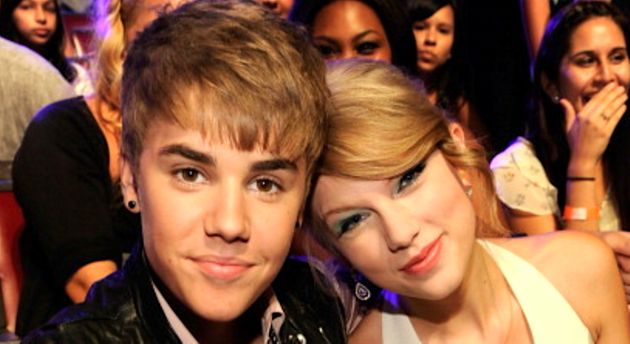 Justin Bieber and Taylor Swift in