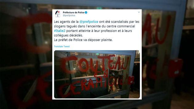 La préfecture de police de Paris a annoncé qu'une plainte allait être déposée après la découverte de...